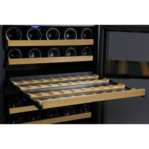 Allavino 56 Bottle FlexCount Series Dual Zone Wine Refrigerator VSWR56-2BWRN