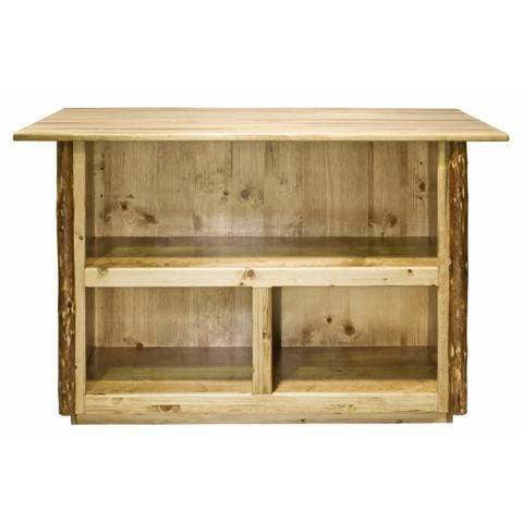 Montana Woodworks Glacier Country Collection Bar with Foot Rail MWGCBWR