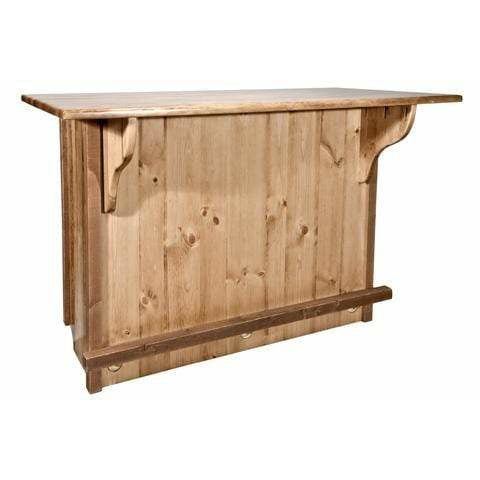 Montana Woodworks Homestead Collection Bar with Foot Rail (Staining & Lacquer Options) MWHCBWRSL