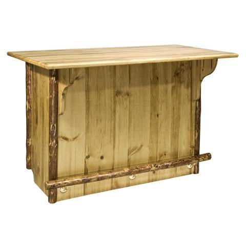 Montana Woodworks Glacier Country Collection Deluxe Bar with Foot Rail MWGCBWRD