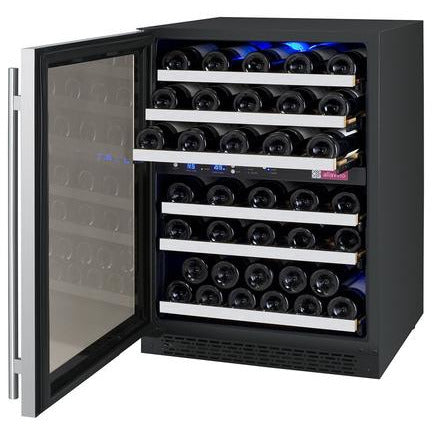 Allavino 56 Bottle FlexCount Series Dual Zone Wine Refrigerator VSWR56-2SSLN