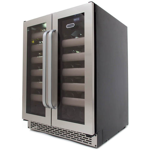 Whynter Elite 40 Bottle Seamless Stainless Steel Door Wine Cooler BWR-401DS