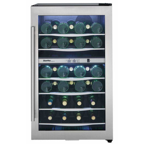Danby Designer 38 Bottle Dual Zone Wine Cooler DWC040A3BSSDD