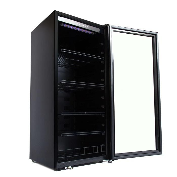 Whynter 124 Bottle Freestanding Wine Cooler FWC-1201BB
