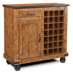 Image of Crafters & Weavers Larson Wine Cabinet Serving Cart CW8365-041