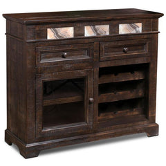 Crafters & Weavers Onyx Rustic Wine Cabinet CW8985-048