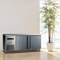 "9"" Two Stainless Steel Door Back Bar Cooler"