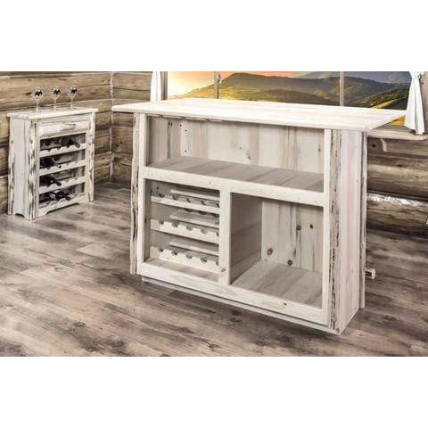 Montana Woodworks Montana Collection Deluxe Bar with Foot Rail MWBWRDV
