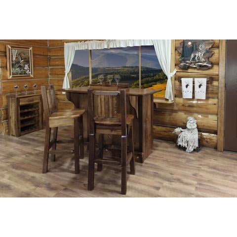 Montana Woodworks Homestead Collection Deluxe Bar with Foot Rail (Stain & Lacquer Options) MWHCBWRDSL