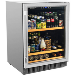 178 Can Beverage Cooler, Stainless Steel Door Trim BEV145SRE
