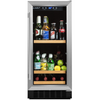 Image of 90 Can Beverage Cooler, Stainless Steel Door Trim