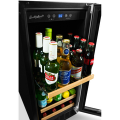 90 Can Beverage Cooler, Stainless Steel Door Trim