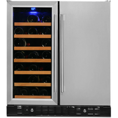 Wine and Beverage Cooler, Stainless Steel Door Trim