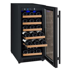 "15"" Wide FlexCount II Tru-Vino 30 Bottle Single Zone Black Wine Refrigerator VSWR30-1BR20"