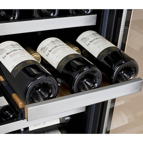 "15"" Wide FlexCount II Tru-Vino 30 Bottle Single Zone Stainless Steel Right Hinge Wine Refrigerator VSWR30-1SR20"