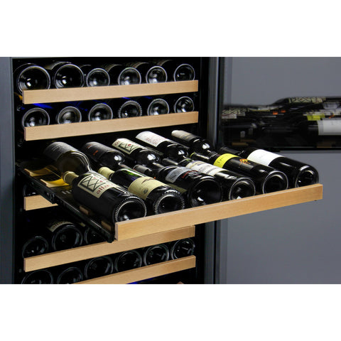 "24"" Wide FlexCount II Tru-Vino 172 Bottle Dual Zone Black Left Hinge Wine Refrigerator VSWR172-2BL20"