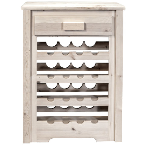 Montana Woodworks Homestead Lacquered Wine Cabinet MWHCWRV