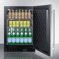 "Summit 24"" Wide Built-In Beverage Center SCR610BLSDCSS"