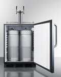 "Summit 24"" Wide Outdoor Wine Kegerator, ADA Compliant SBC54OSBIADAWKDTWIN"