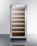 "Summit 15"" Wide Built-In Wine Cellar SWC1535BCSS"