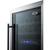 "Image of Summit 18"" Dual Zone Built In Stainless Steel Wine Cooler SWC182ZADA"