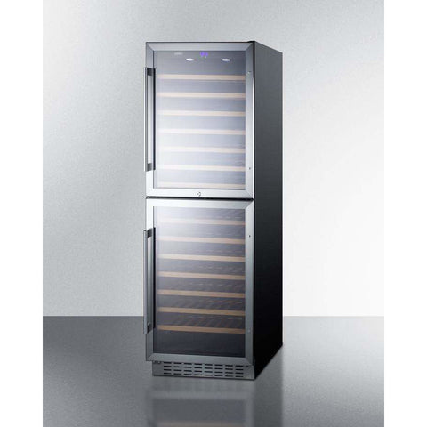 Summit Dual Zone 118 Bottle Wine Cellar SWC1875B