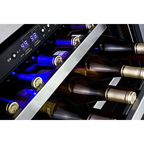 Summit 46 Bottle Dual Zone Built In Wine Cooler SWC530BLBISTCSSADA