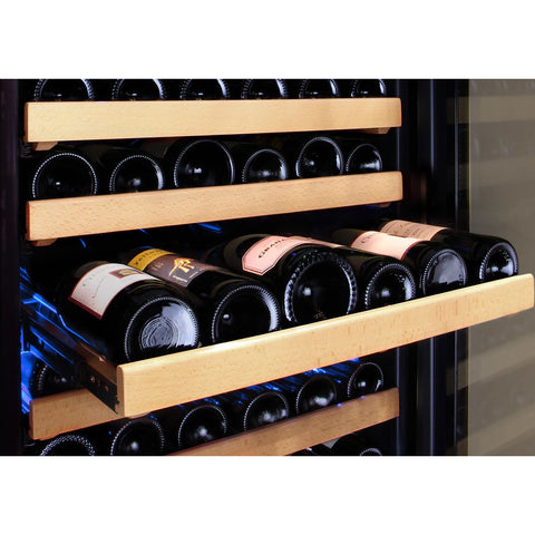 "24"" Wide FlexCount II Tru-Vino 172 Bottle Dual Zone Stainless Steel Left Hinge Wine Refrigerator VSWR172-2SL20"