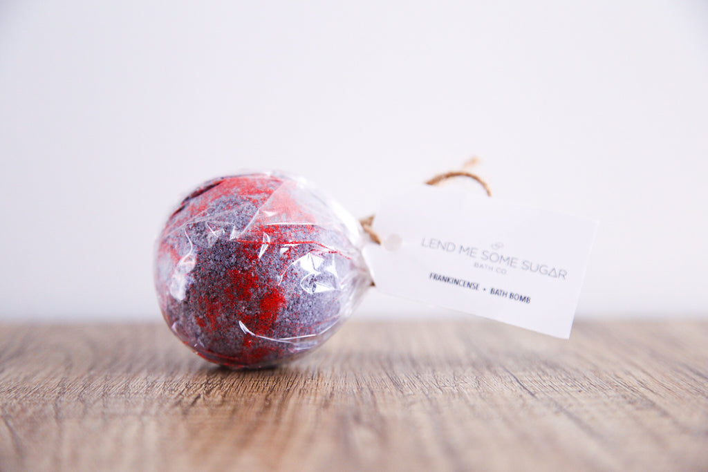 Frankincense Bath Bomb - Lend Me Some Sugar - Luxe Mood