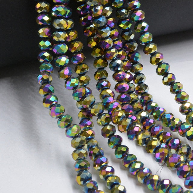Beads Shining Blue 4mm Czech Faceted Crystal Football Beads Color Glass Round Crafts Beads For Jewelry Making 145pcs Lot Wholesale