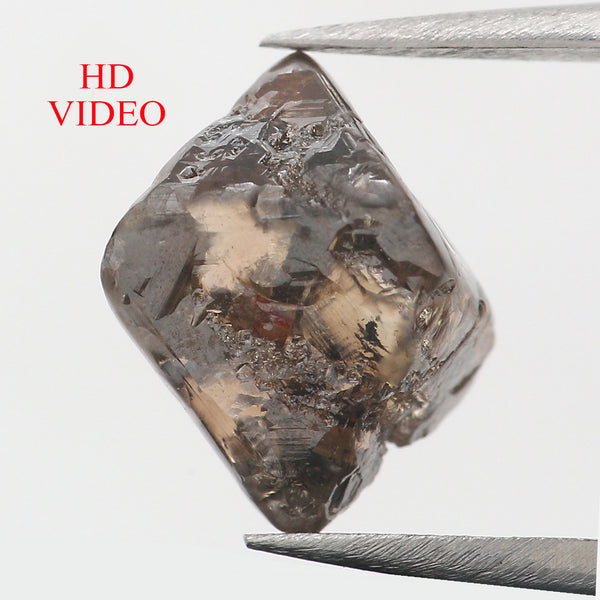 4.75 Ct Natural Loose Diamond Rough Brown Color I1 Clarity 9.20 MM L8837