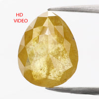 1.41 CT Natural Loose Diamond Pear Yellow Color 8.90 MM KR2201