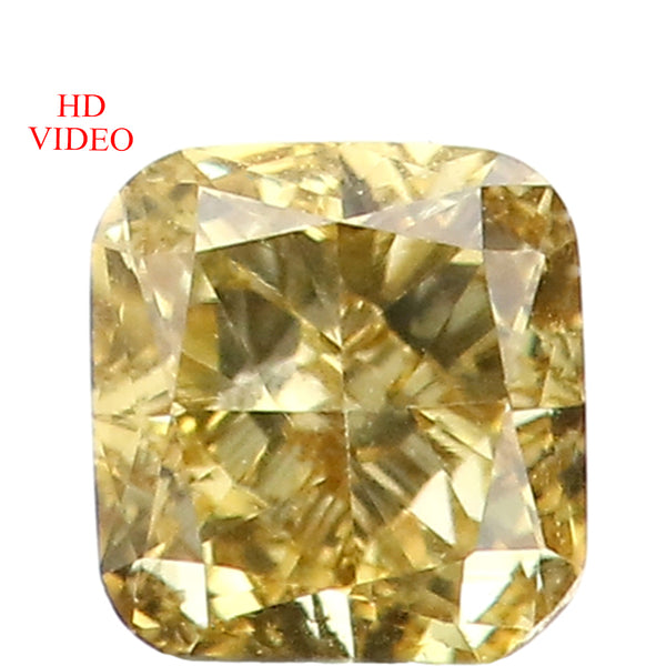 0.19 Ct Natural Loose Diamond Cushion Yellow Color VS Clarity 3.40 MM L8636