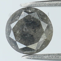 1.20 Ct Natural Loose Diamond Round Black Gray Color I3 Clarity 5.90 MM L8572