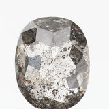 0.68 Ct Natural Loose Diamond Oval Black Grey Salt And Pepper Color I3 Clarity 5.90 MM L8745