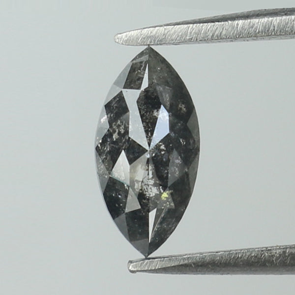 0.35 Ct Natural Loose Diamond Marquise Black Grey Salt And Pepper Color I3 Clarity 6.75 MM L8832