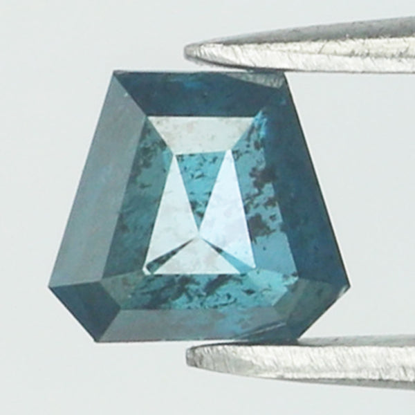 0.38 Ct Natural Loose Diamond Coffin Blue Color I3 Clarity 4.80 MM L8758