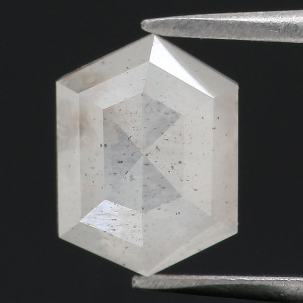0.91 Ct Natural Loose Diamond Hexagon White Milky Color I3 Clarity 6.90 MM KDL8813