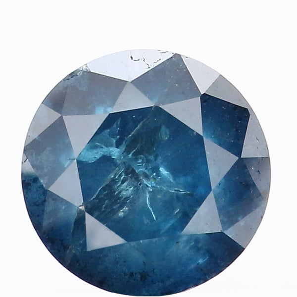 1.68 Ct Natural Loose Diamond Round Blue Color I3 Clarity 6.90 MM L8770