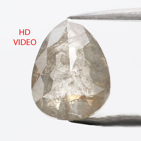 1.63 CT Natural Loose Diamond Pear Grey Color 8.20 MM L9097