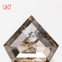 1.24 CT Natural Loose Diamond Shield Brown Salt And Pepper Color 7.06 MM L9335