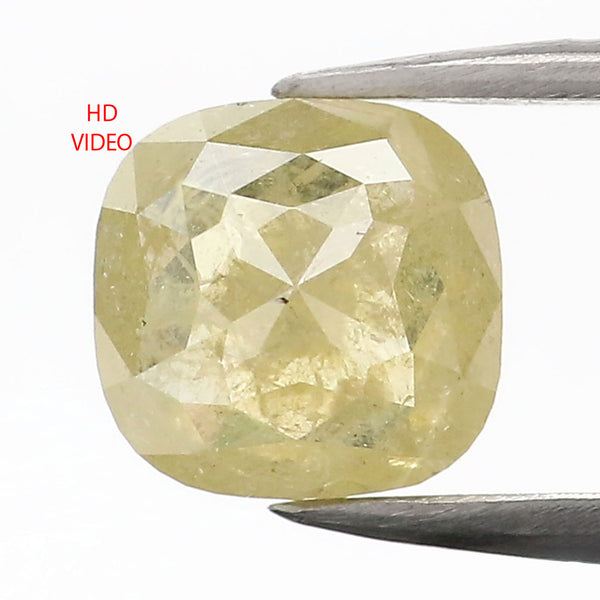 0.81 CT Natural Loose Diamond Cushion Yellow Color 5.65 MM L9098