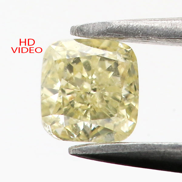 0.18 Ct Natural Loose Diamond Cushion Yellow Color VS Clarity 3.30MM KR2140