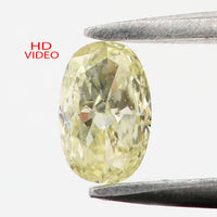 0.17 Ct Natural Loose Diamond Oval Yellow Color SI1 Clarity 4.20 MM L8601