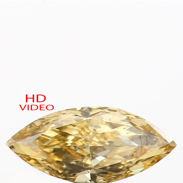 0.30 Ct Natural Loose Diamond Marquise Yellow Color VS Clarity 7.00 MM KR2141