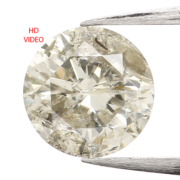 0.52 Ct Natural Loose Diamond, White Diamond, Round Diamond, Round Brilliant Cut Diamond, Sparkling Diamond, Rustic Diamond L031