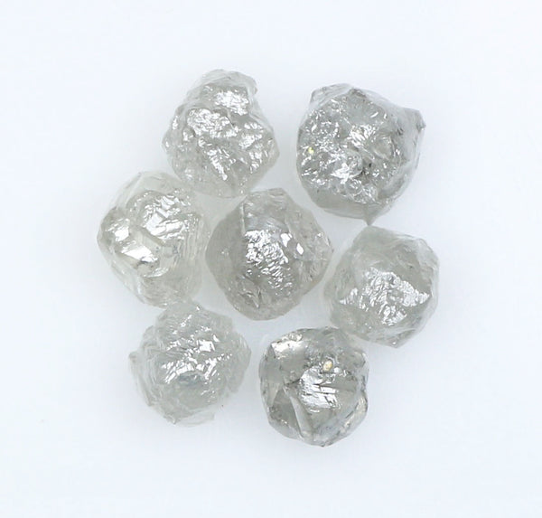 3.11 Ct Natural Loose Diamond Rough Gray Color 7 Pcs L9052