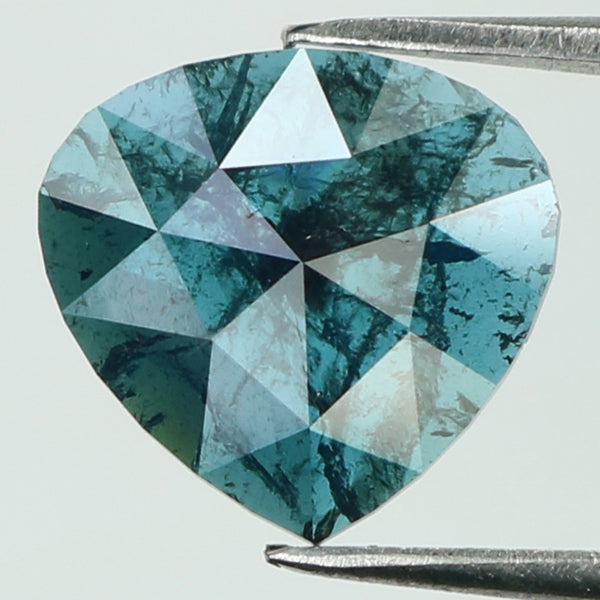 0.95 Ct Natural Loose Diamond Heart Blue Color I3 Clarity 8.10 MM KDL8045