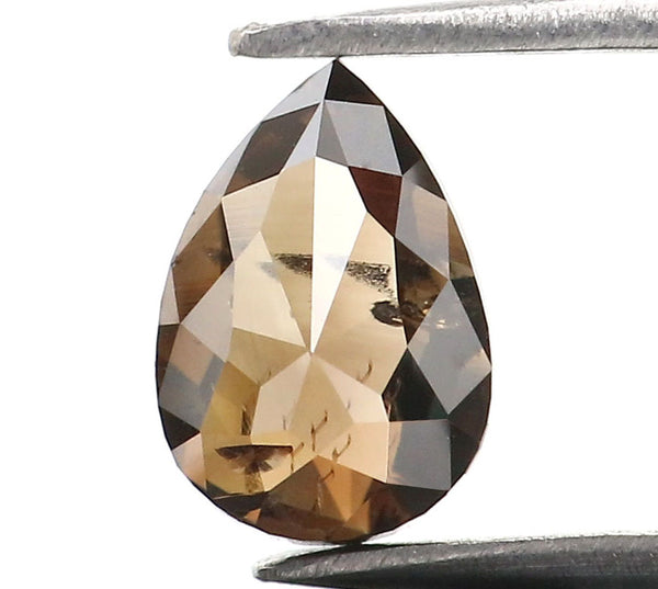0.80 Ct Natural Loose Diamond Pear Black Brown Color SI2 Clarity 6.60 MM L8989