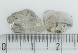 1.61 Ct Natural Loose Diamond Slice Black Gray Salt And Pepper Color I3 Clarity 2 Pcs L8248